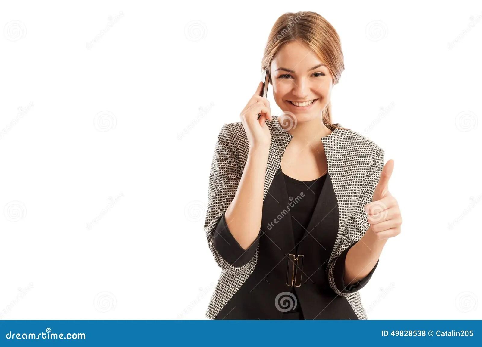 sales woman talking on