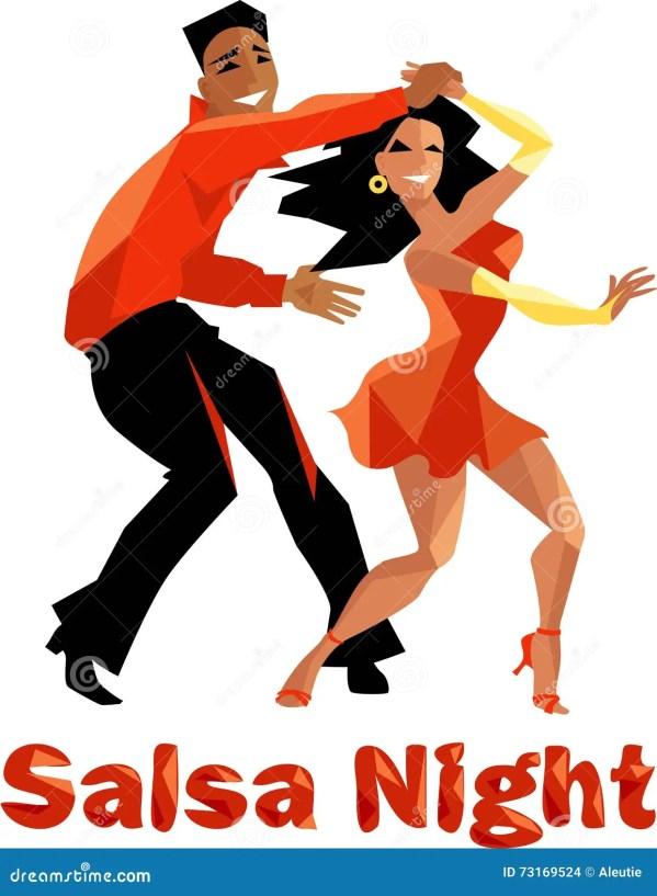 salsa night poster stock vector
