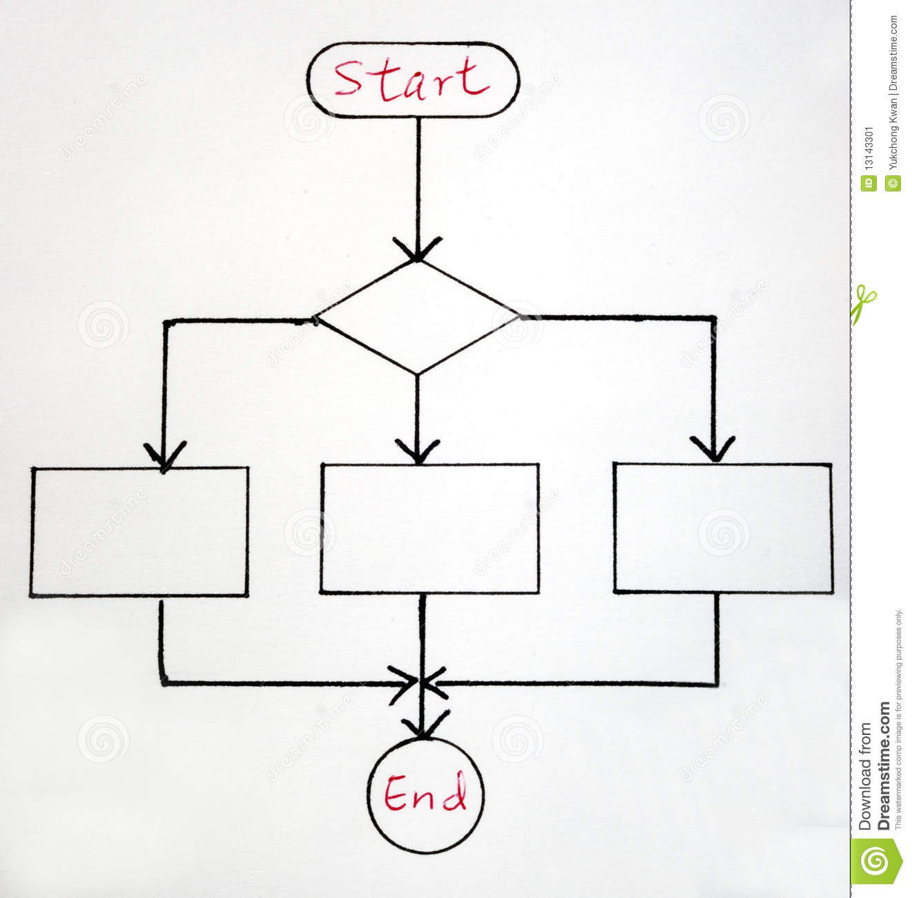 A Sample Flowchart Stock Image Image Of Background