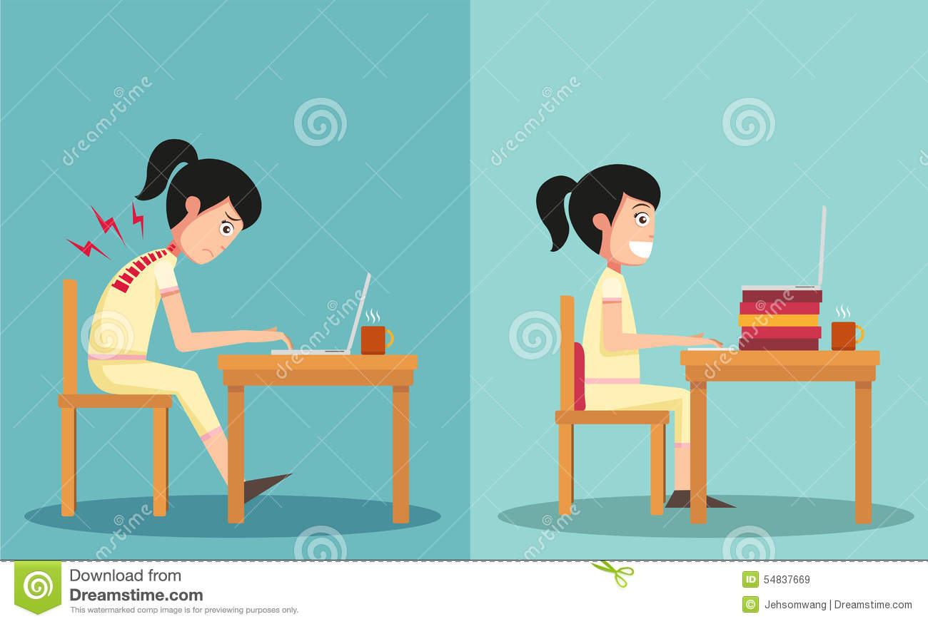 office chair vector accessories australia the sample of guy sitting in wrong and right ways stock - image: 54837669