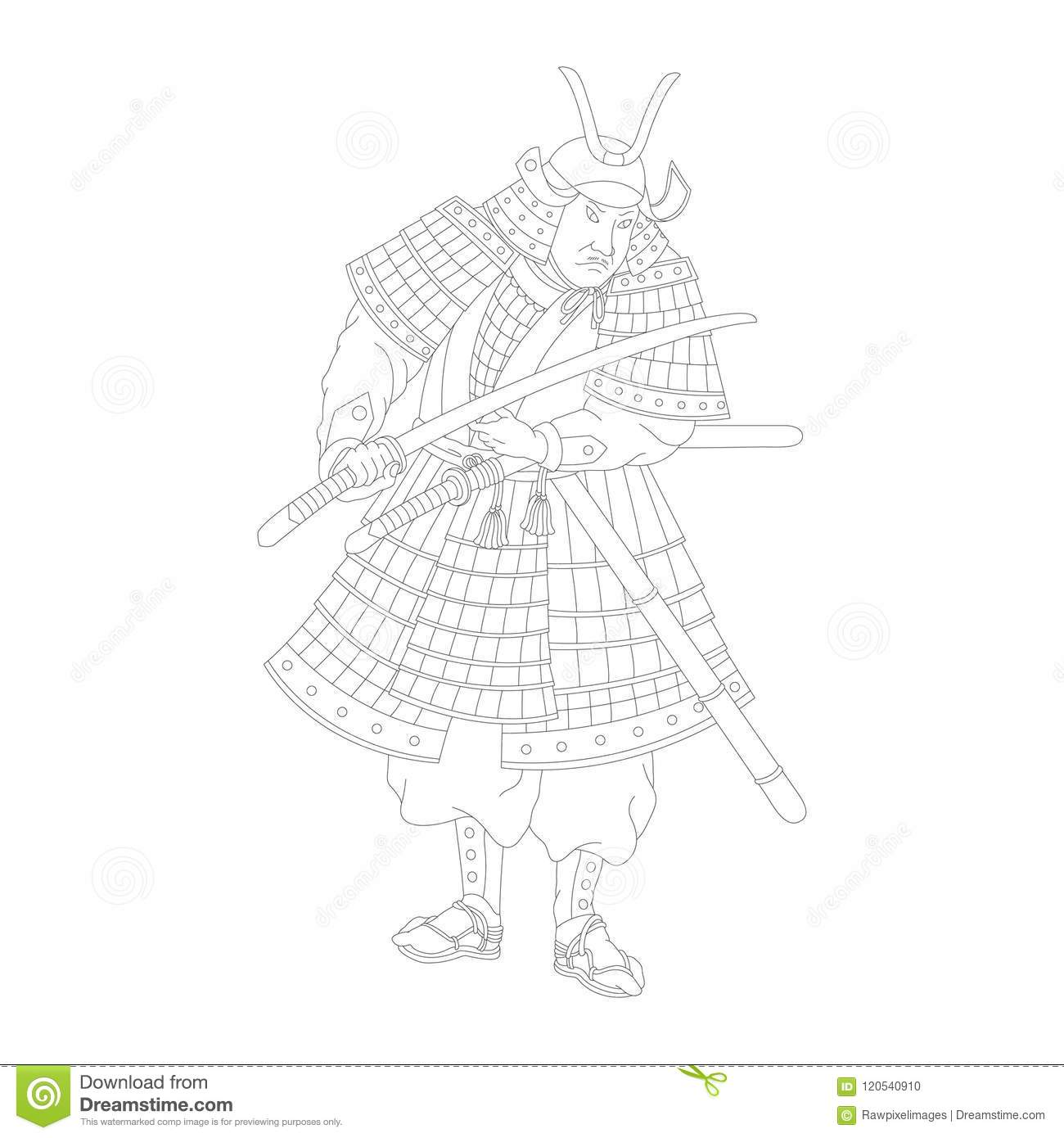 Chinese Samurai Coloring Page Coloring Pages