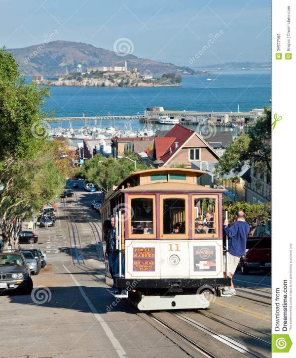 San Francisco - Cable Car Tram Editorial Stock