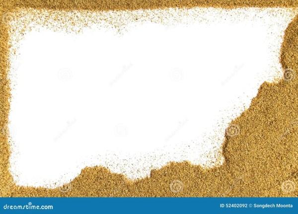 Sand Border Stock Photo Image 52402092