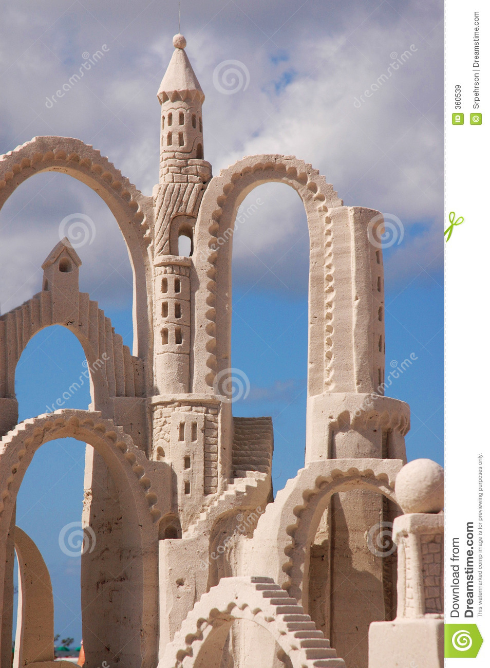 Sand Castle Tower Stock Image Image Of Magic Queen