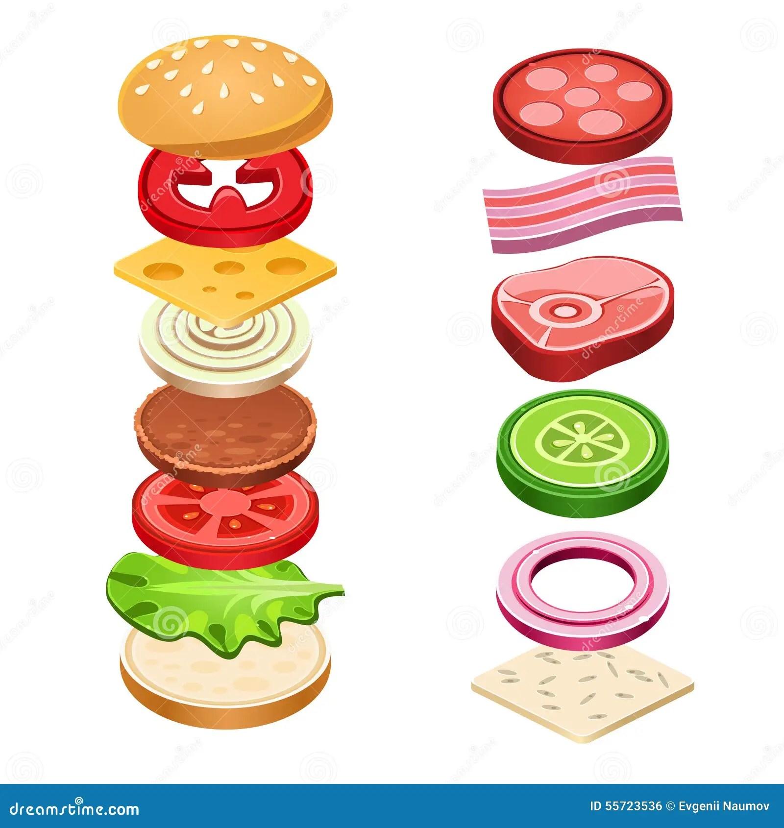Cartoon Salami Sandwich