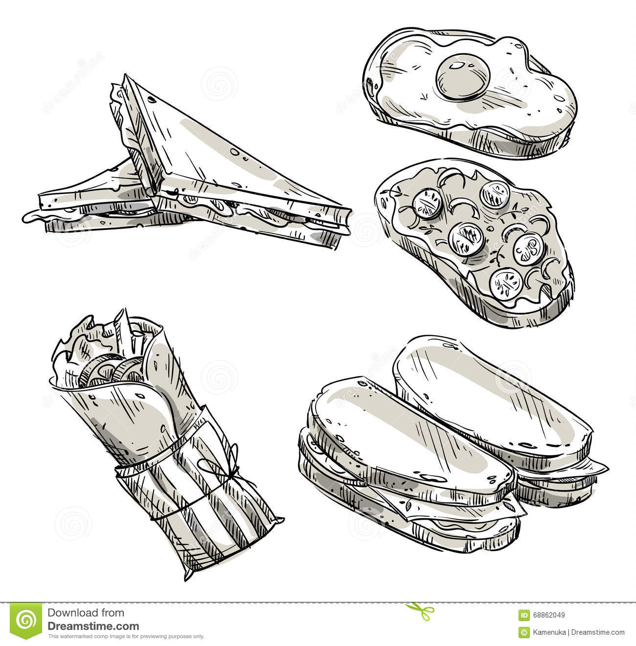 Sandwiches Cartoons, Illustrations & Vector Stock Images