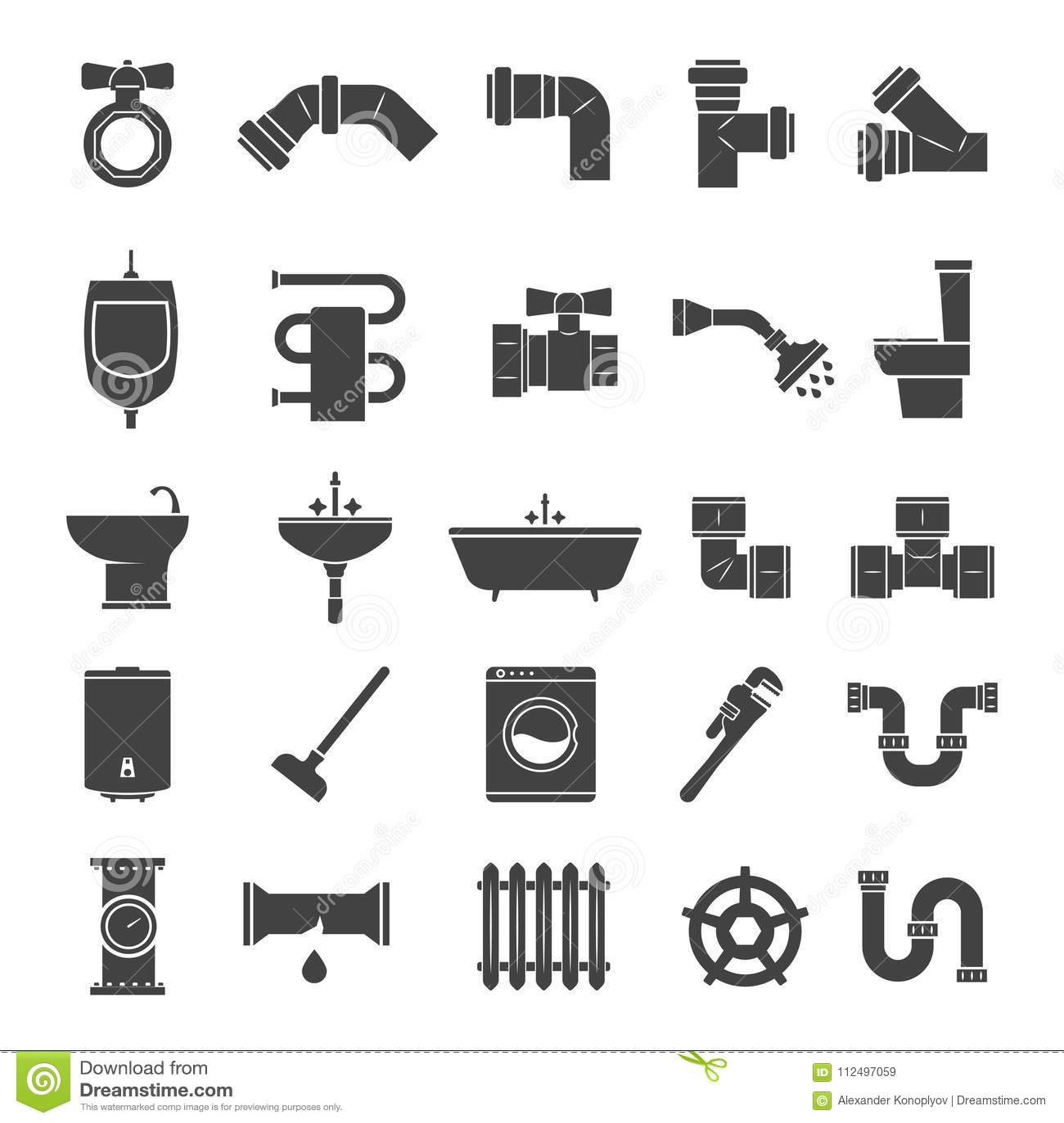 Pipe Fitting Vector Set. Pipeline Vector Illustration