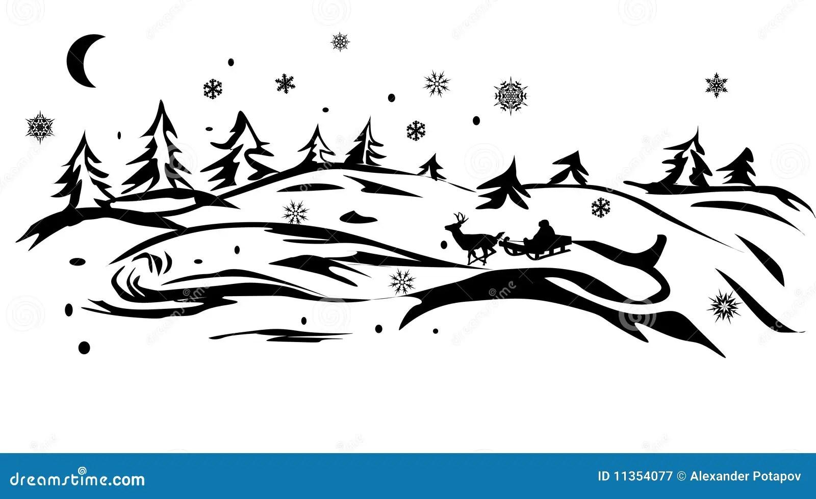 Sankt Im Winterwald Stock Abbildung Illustration Von