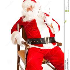 Santa Claus Chair Ribbed Leather Office In Royalty Free Stock Photography Image