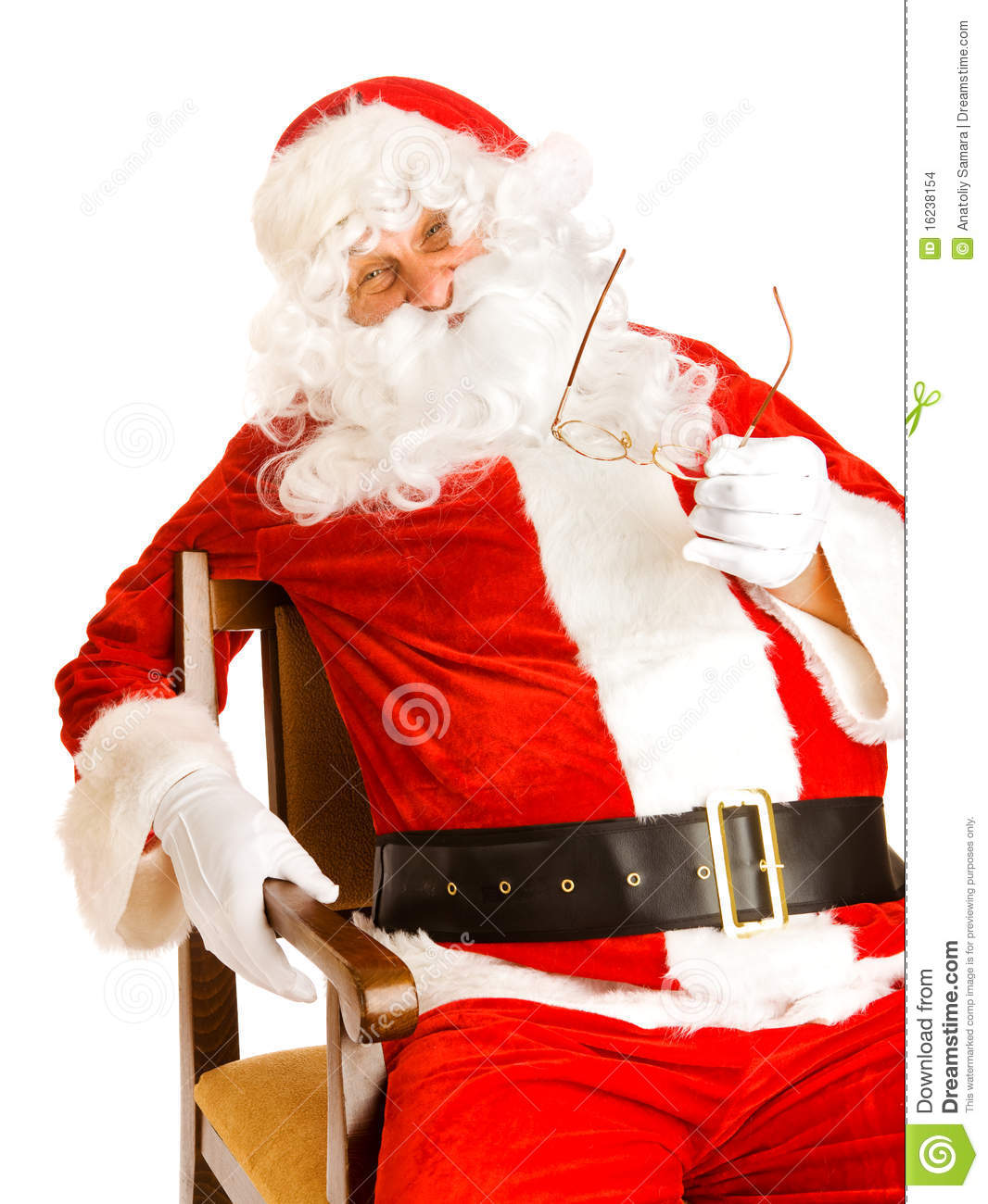 santa claus chair bamboo lounge in stock images image 16238154