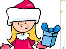 Santa Claus Girl Cartoon Illustration Stock Vector - Image ...