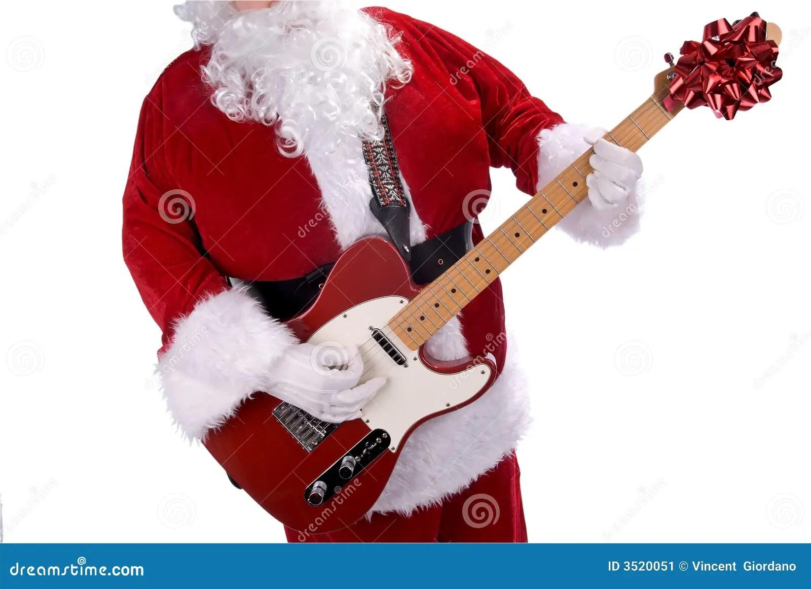 Santa Claus With Guitar Stock Image Image 3520051