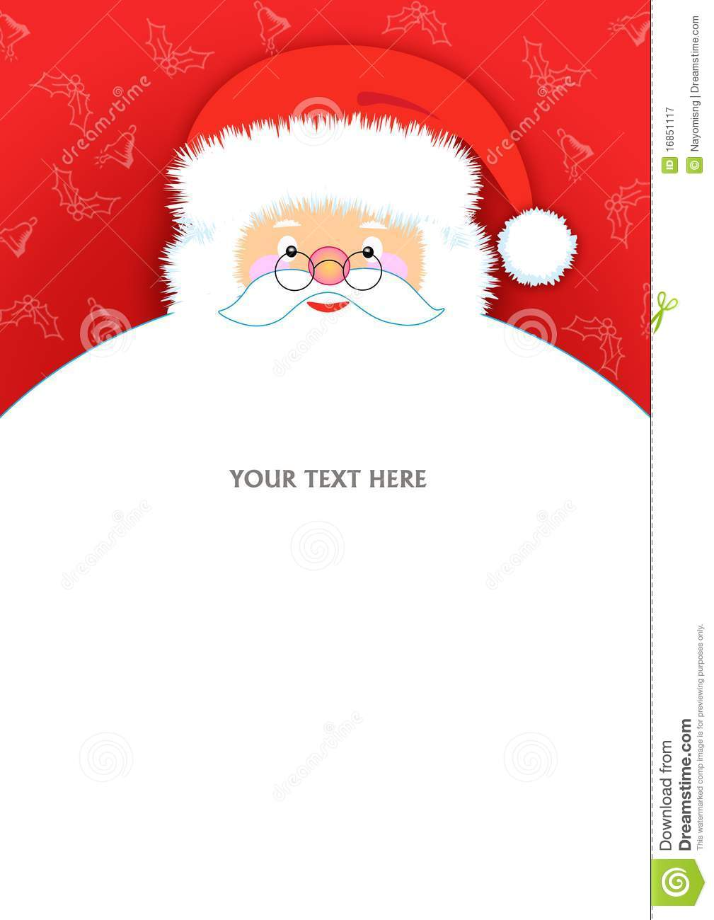 Santa Claus Letter Pad Stock Illustration Image Of Cards