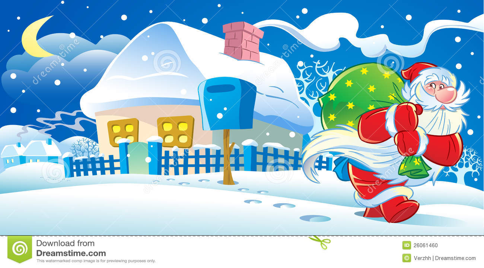 Santa Claus New Years Eve Stock Photo Image 26061460