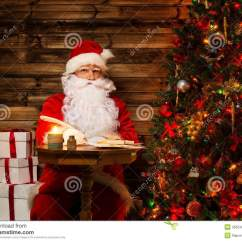 Santa Claus Chair Bouncy For Baby Sitting On Rocking Stock Photos Image
