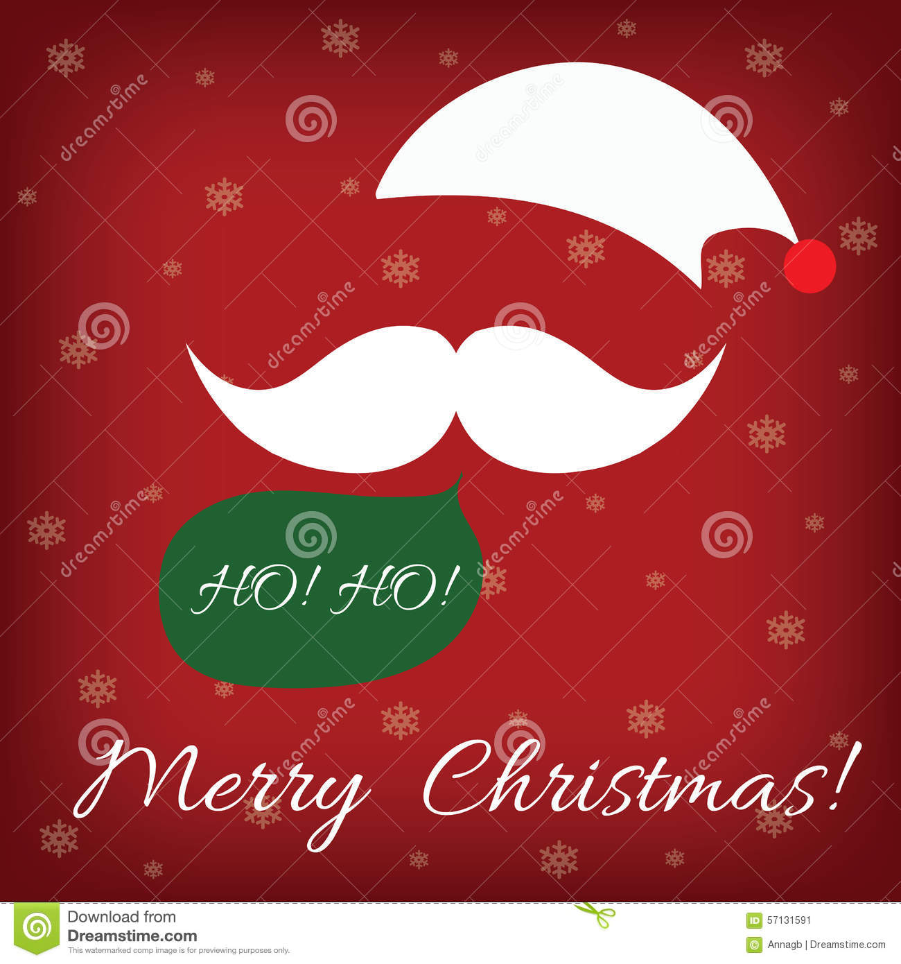Santa Claus And Speech Bubble With Word HoHo And Merry