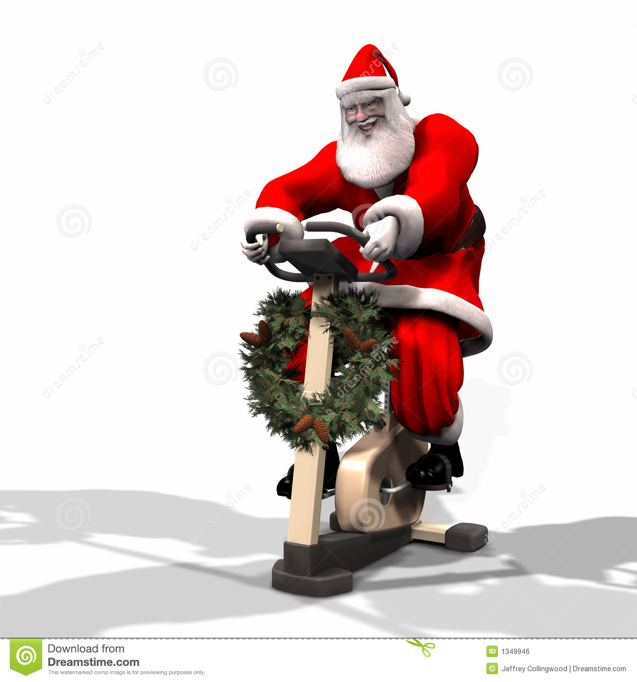spinning santa royalty free stock photos