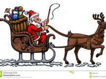 Santa In His Sleigh Royalty Free Stock Photos - Image ...