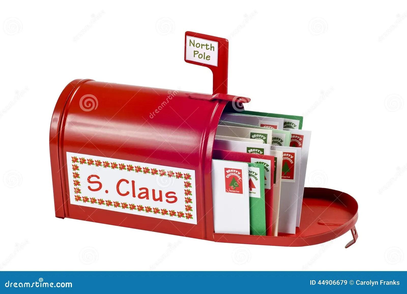 Santa Mailbox Full Of Mail Stock Image Image Of Shot