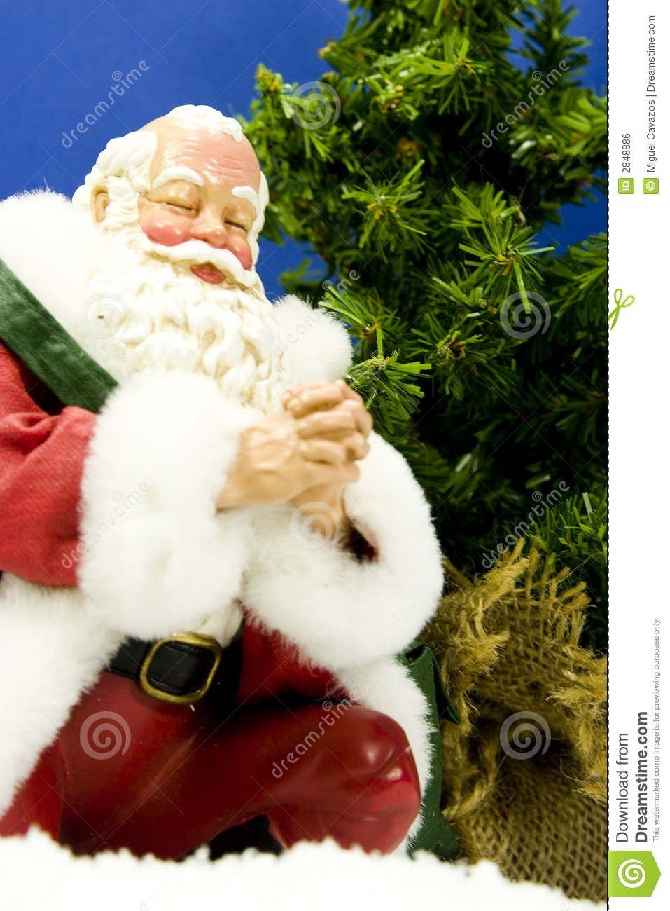 Santa Praying Royalty Free Stock Image Image 2848886