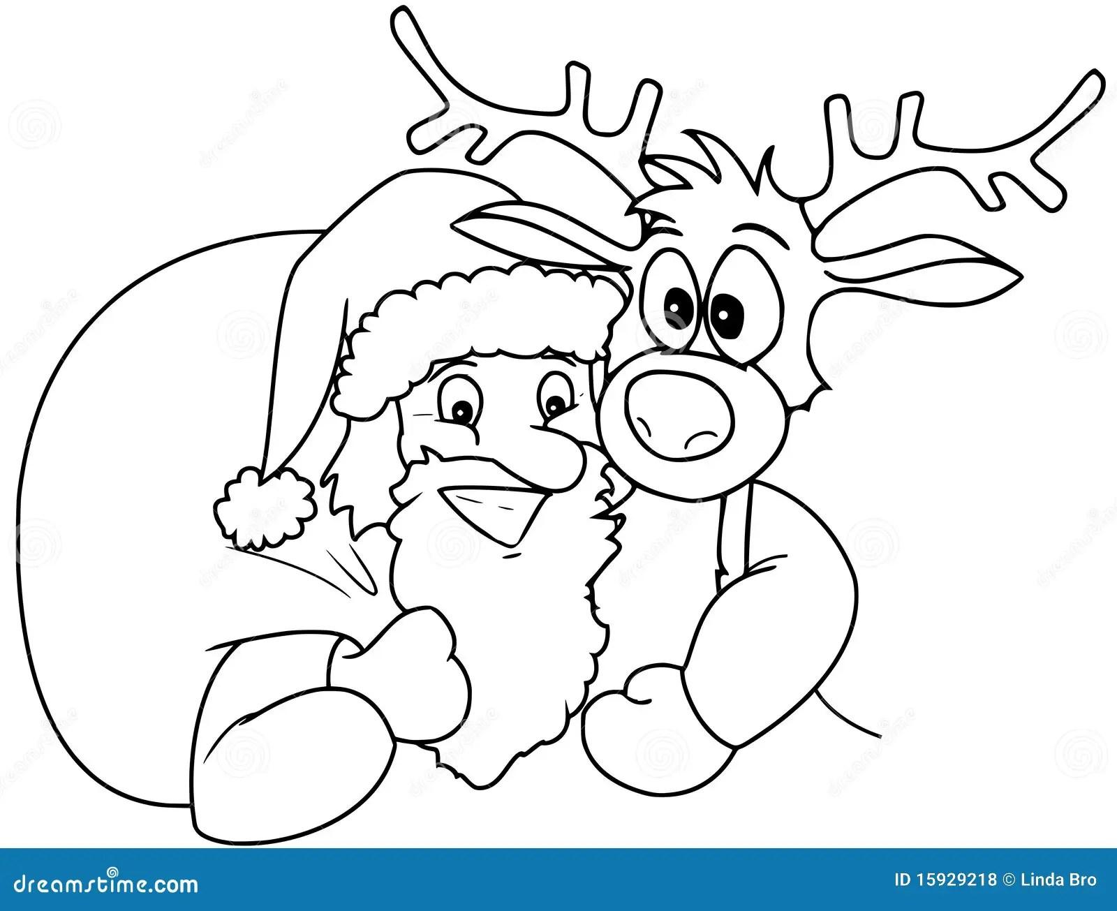 Santa And Rudolph Royalty Free Stock Photos