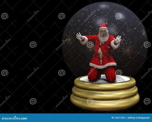 Santa Trapped In Snow Globe 2 Stock - 1321120