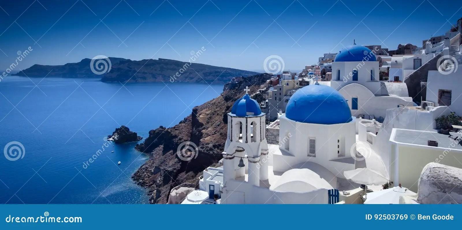 Santorini Blue stock image. Image of holiday. cliffs - 92503769