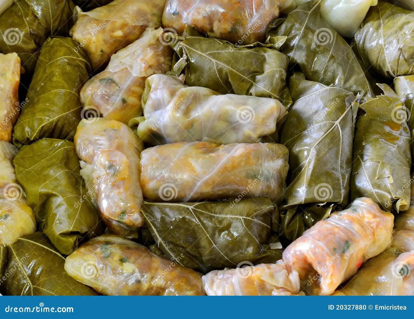 Sarmale Cavolo Farcito Cucina Rumena Fotografia Stock  Immagine di culinario carne 20327880