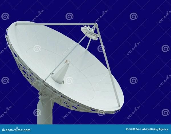 Satellite Dish Blue Sky Stock - 570204