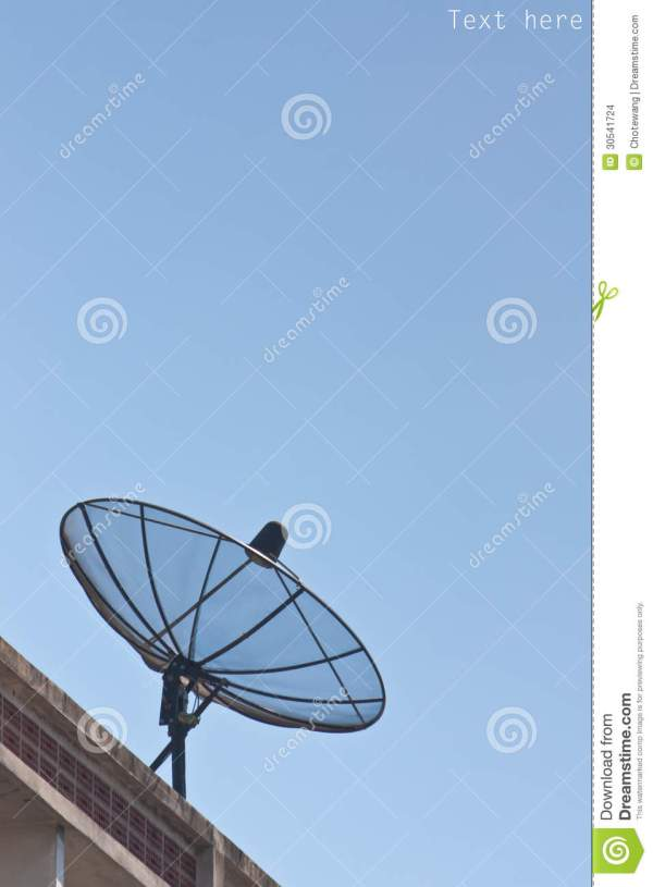 Satellite Dish And Blue Sky Stock - 30541724