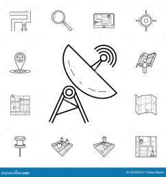 satellite dish icon detailed set of navigation icons premium graphic design one of [ 1600 x 1689 Pixel ]