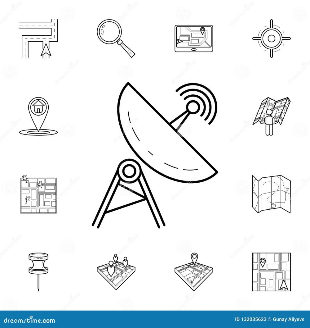 medium resolution of satellite dish icon detailed set of navigation icons premium graphic design one of