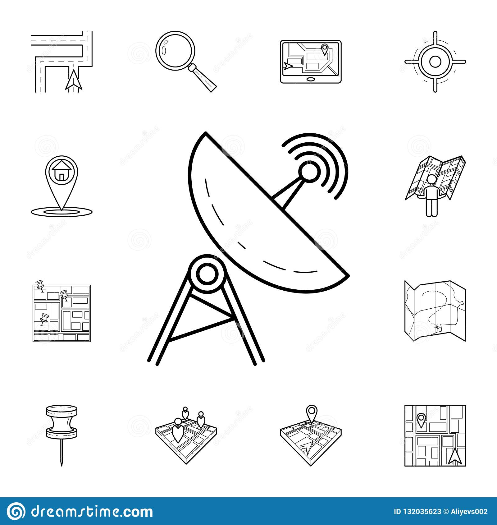 hight resolution of satellite dish icon detailed set of navigation icons premium graphic design one of