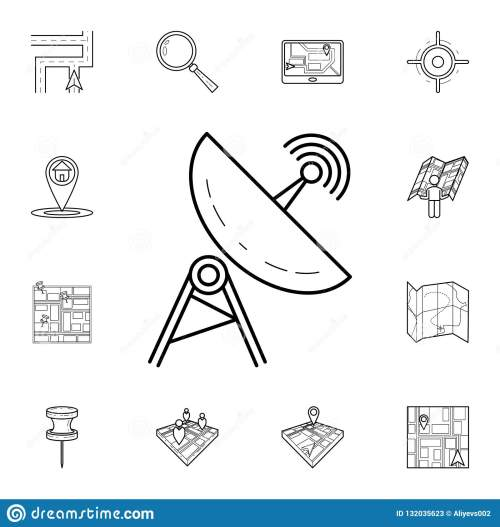 small resolution of satellite dish icon detailed set of navigation icons premium graphic design one of