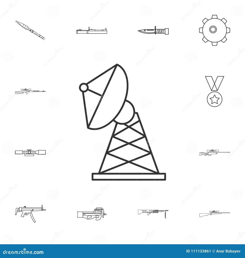 medium resolution of satellite dish line icon element of popular army icon premium quality graphic design
