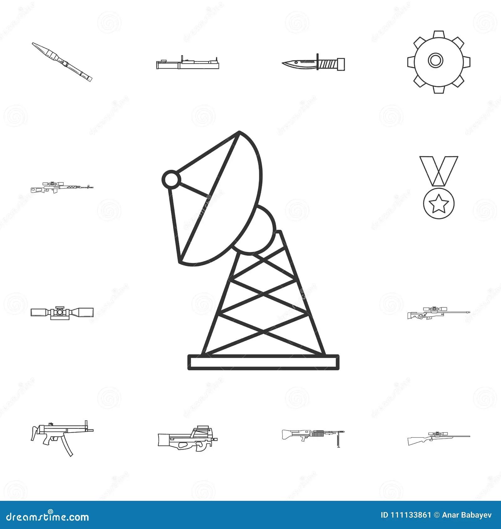 hight resolution of satellite dish line icon element of popular army icon premium quality graphic design