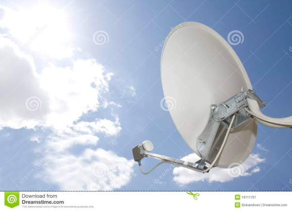 Satellite In Sky Royalty Free Stock - 19111707