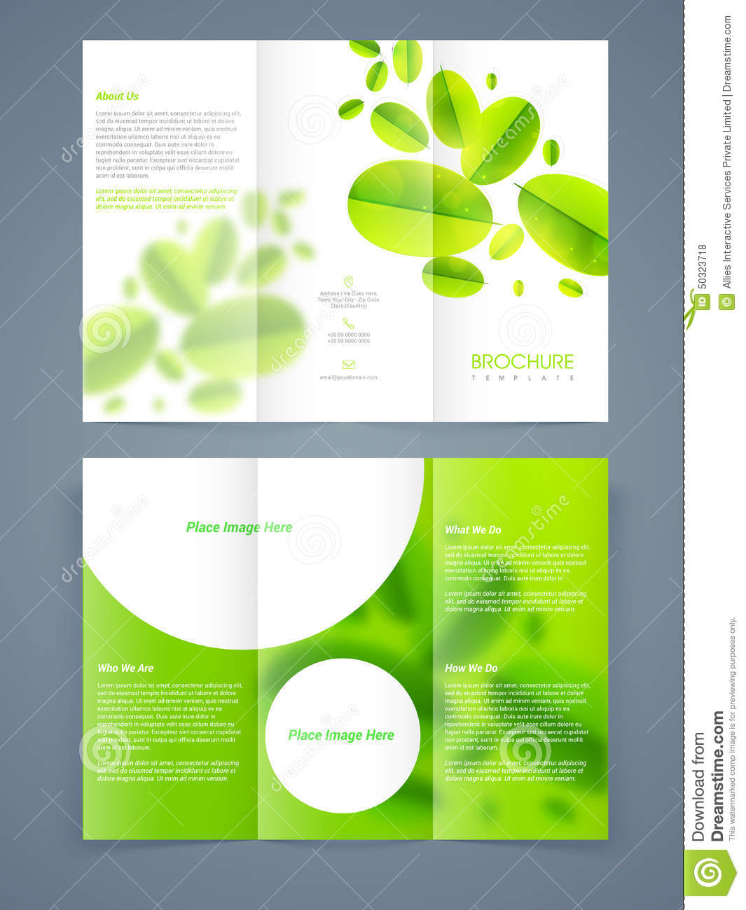 Save Ecology Brochure Template Or Flyer Design Stock Illustration
