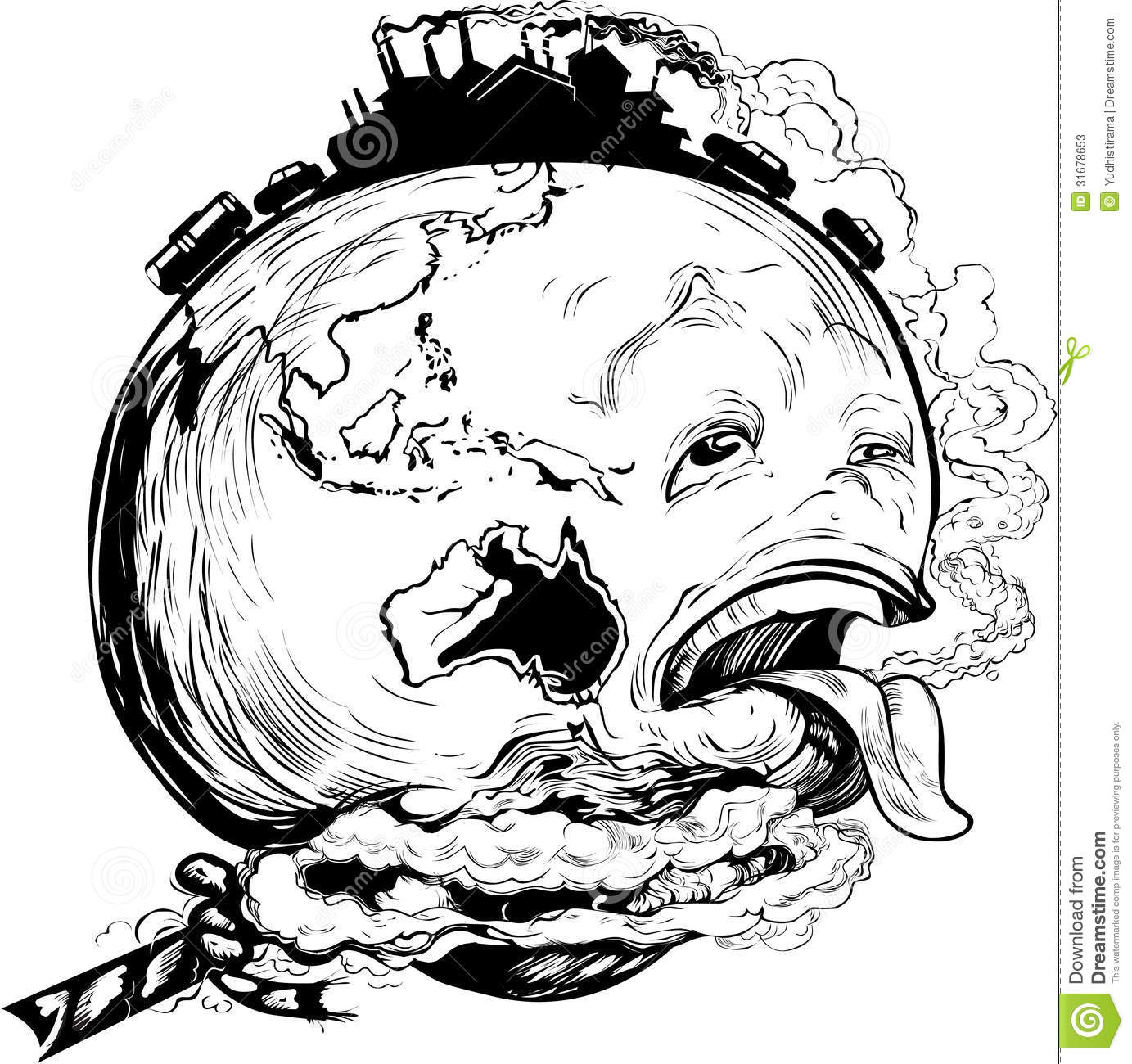 Save Our Earth Stock Vector Illustration Of Tongue