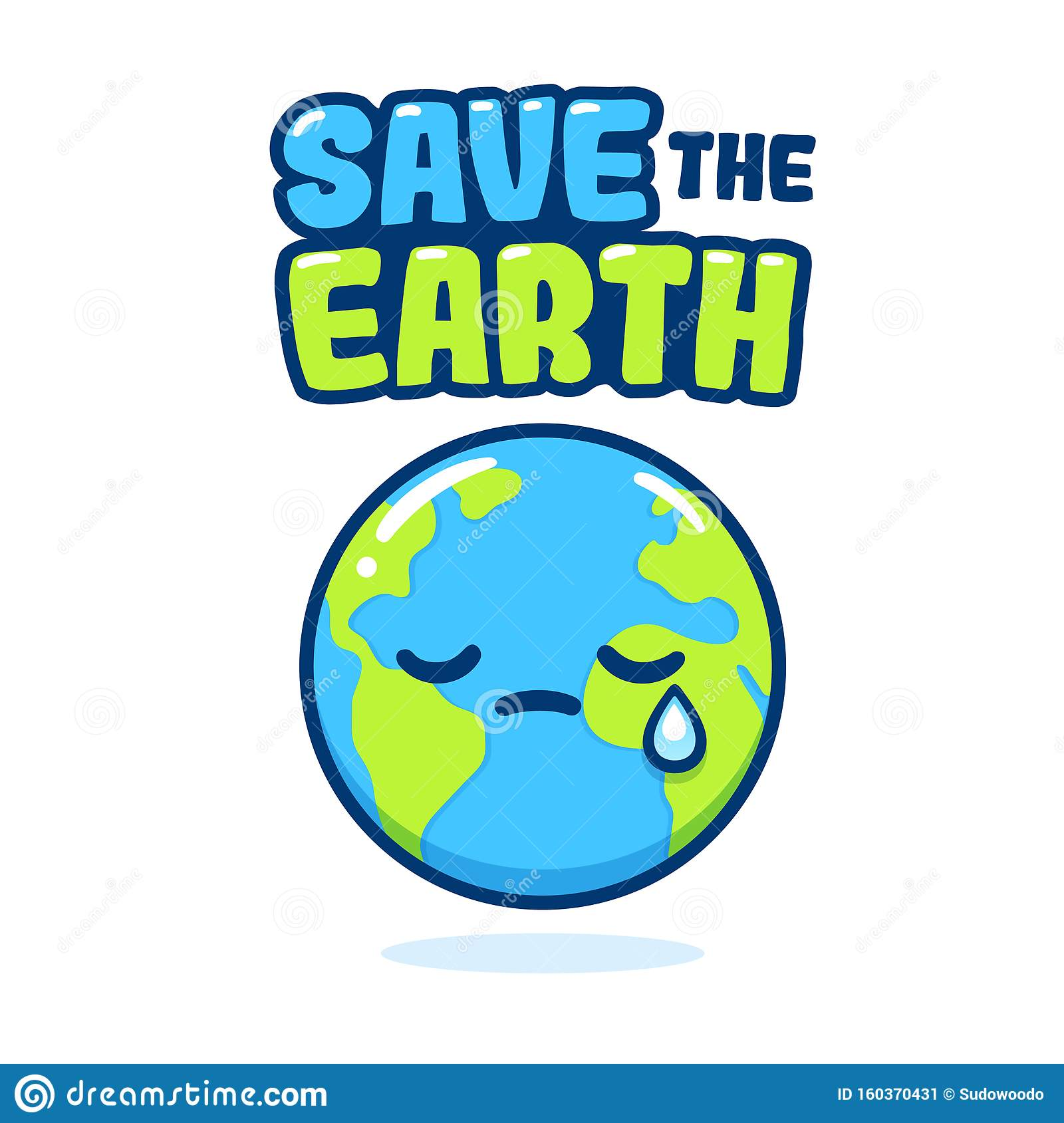 Save The Earth Poster Stock Vector Illustration Of Globe