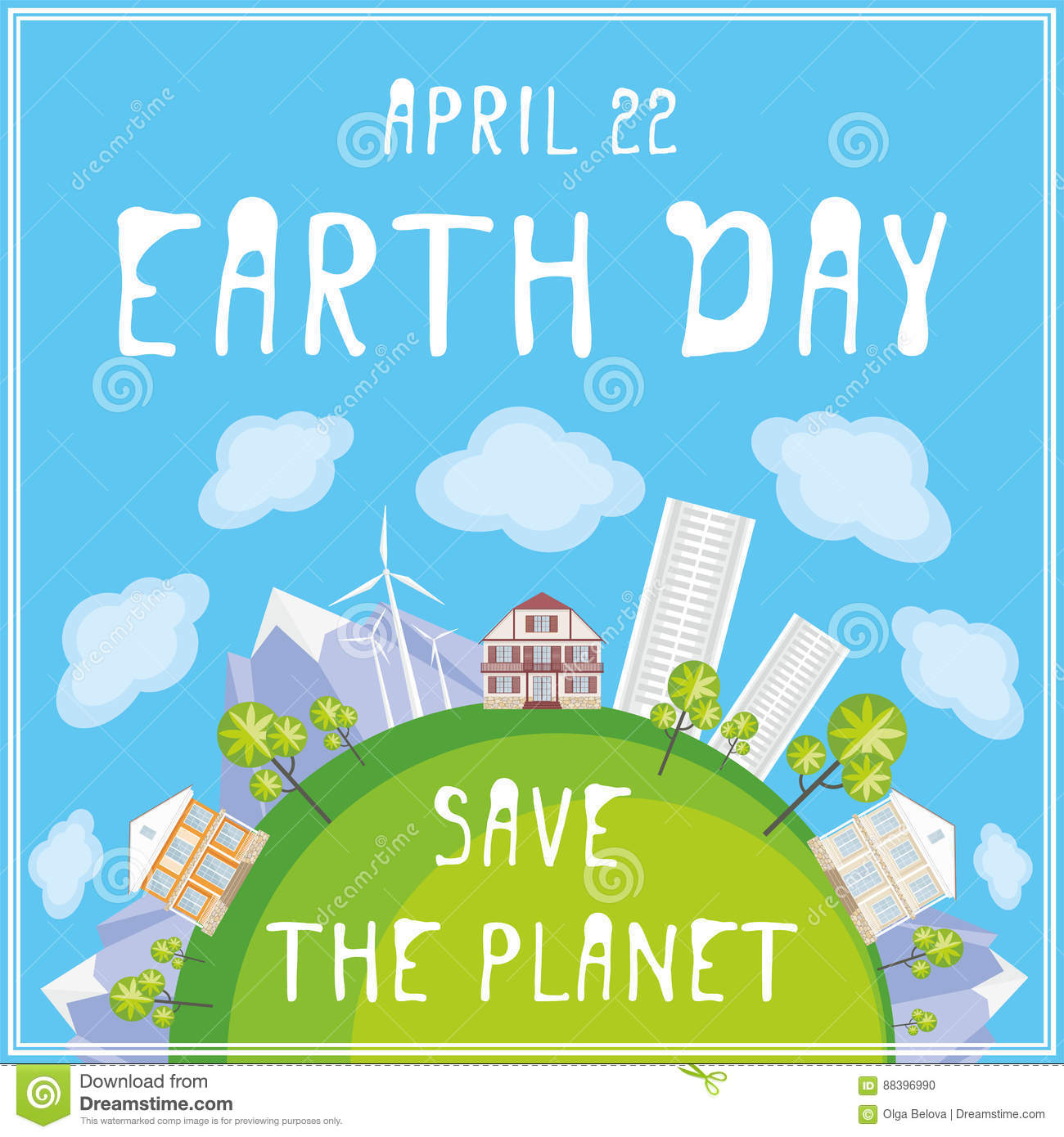 Save The Planet Stock Vector Illustration Of Background