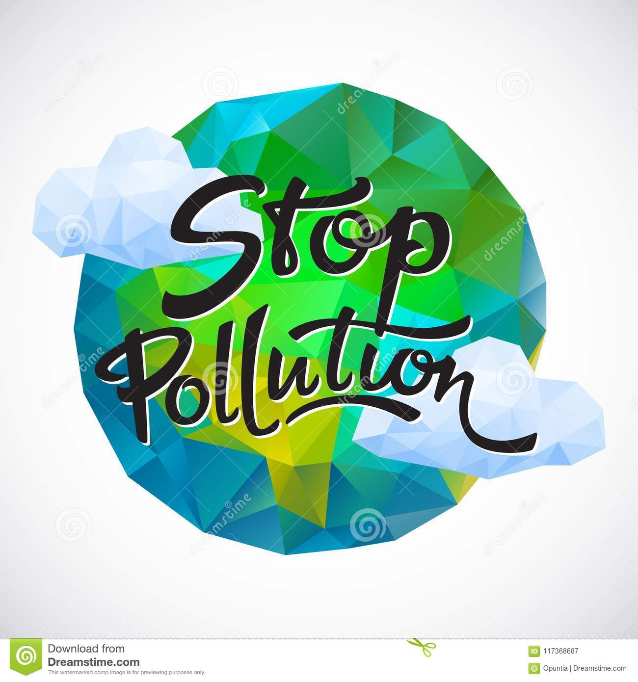 Save The Planet Poster Vector Illustration Stock