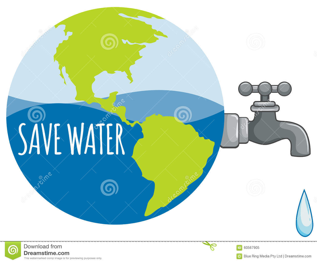 hight resolution of diagram of tap water wiring diagram usedsave water sign with tap water stock vector illustration of