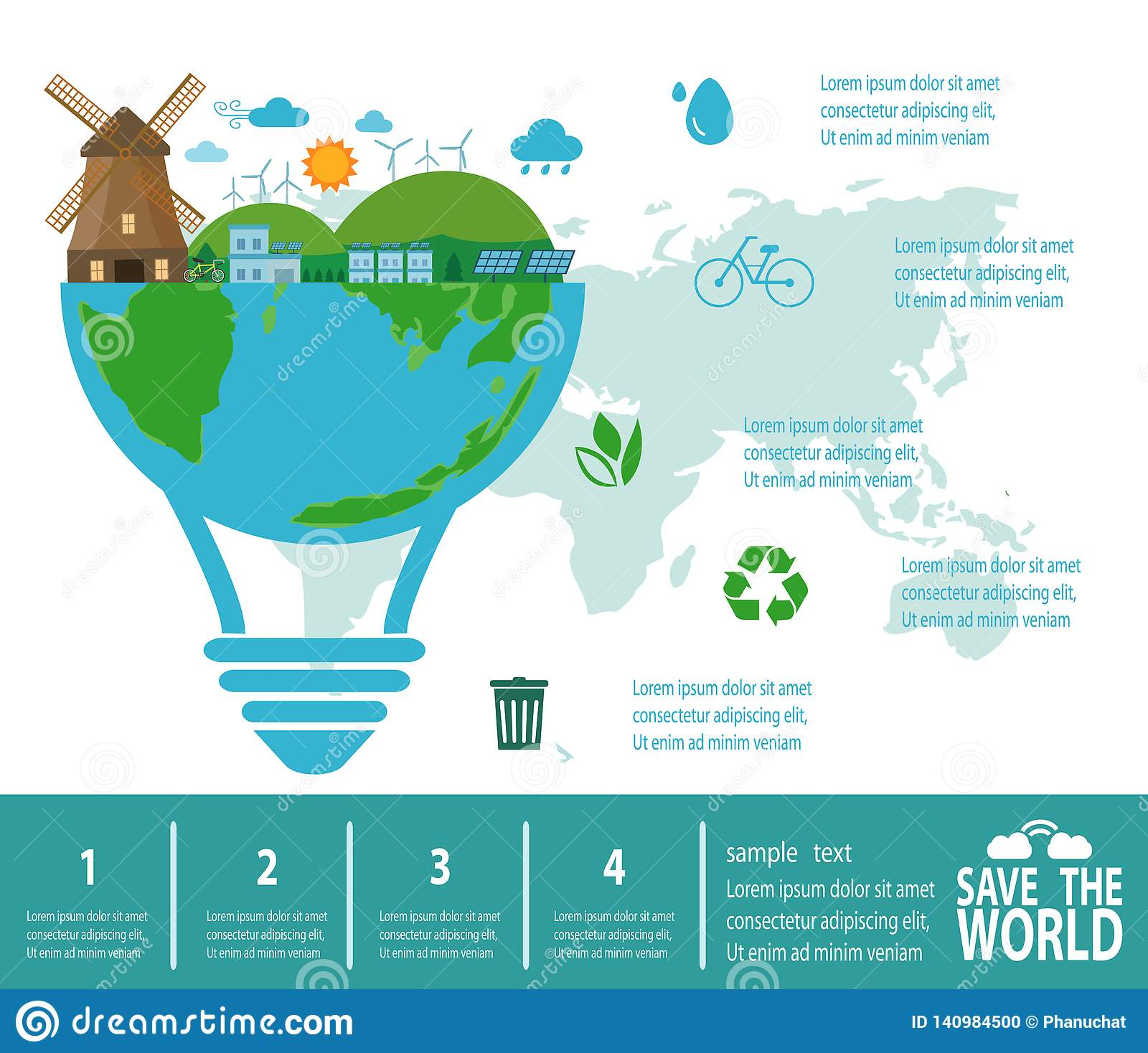 Save The World Infographic Save Planet Earth Day