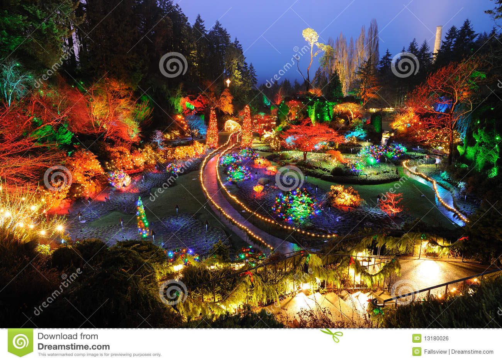 Decoration Jardin Nuit | Fontaine De Nuit