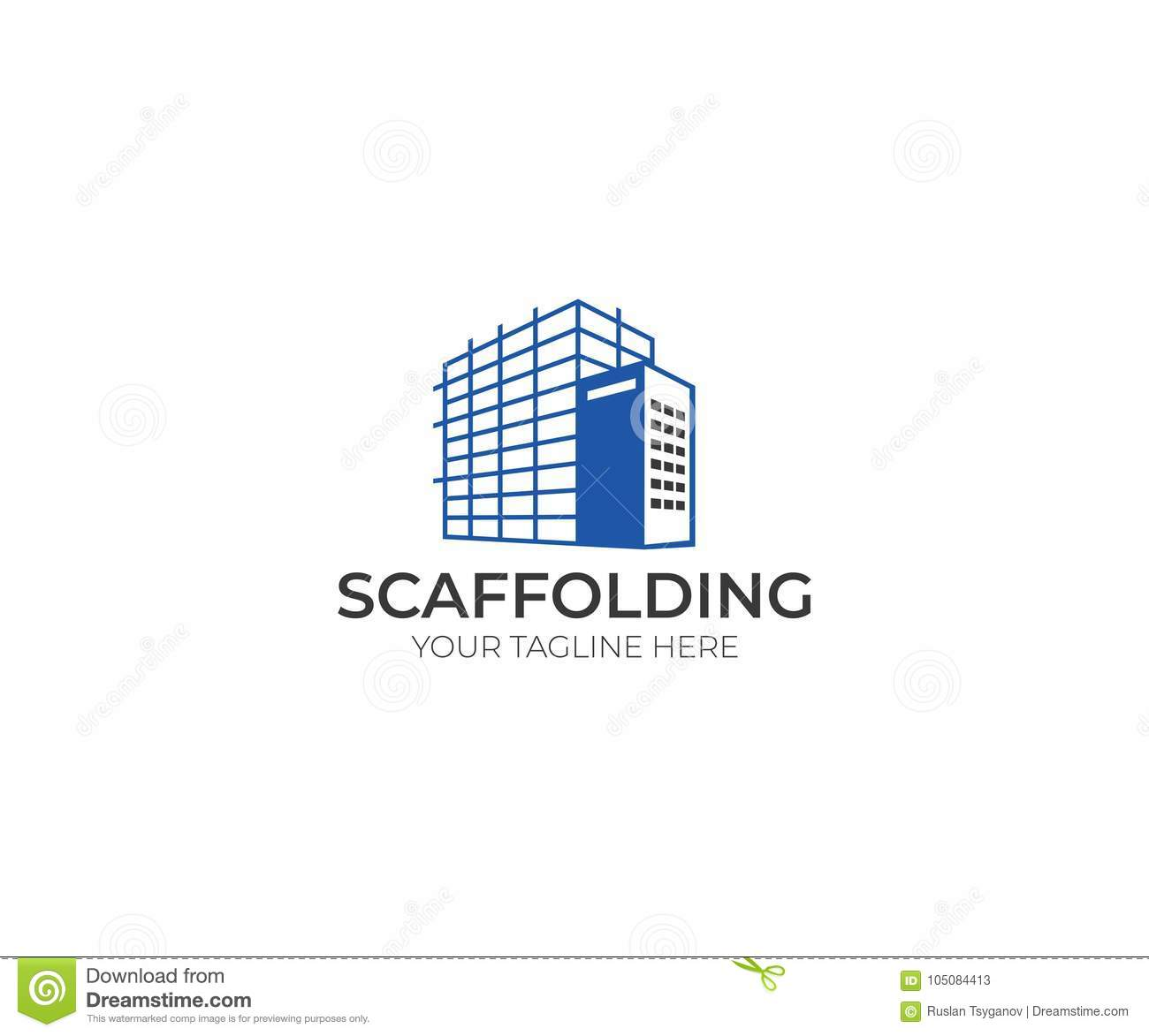 Scaffolding Logo Template. Construction Vector Design