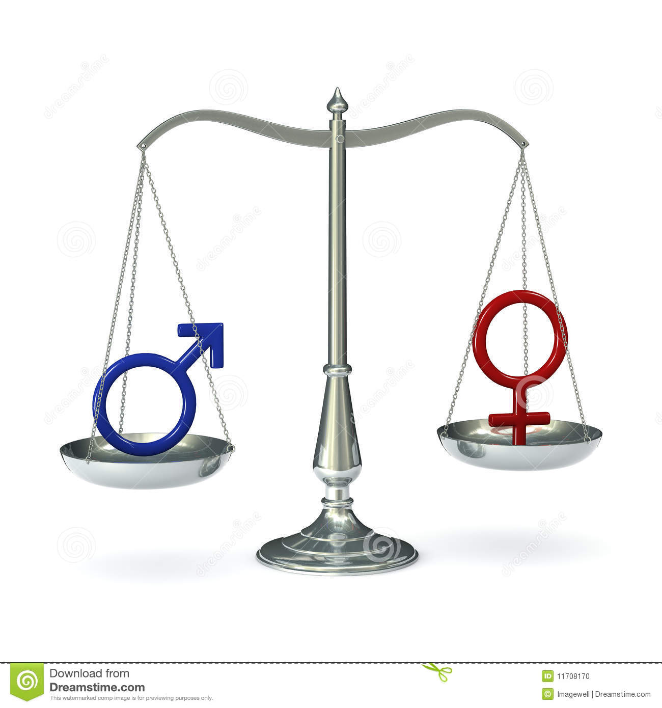 Scales With Gender Symbols Stock Illustration