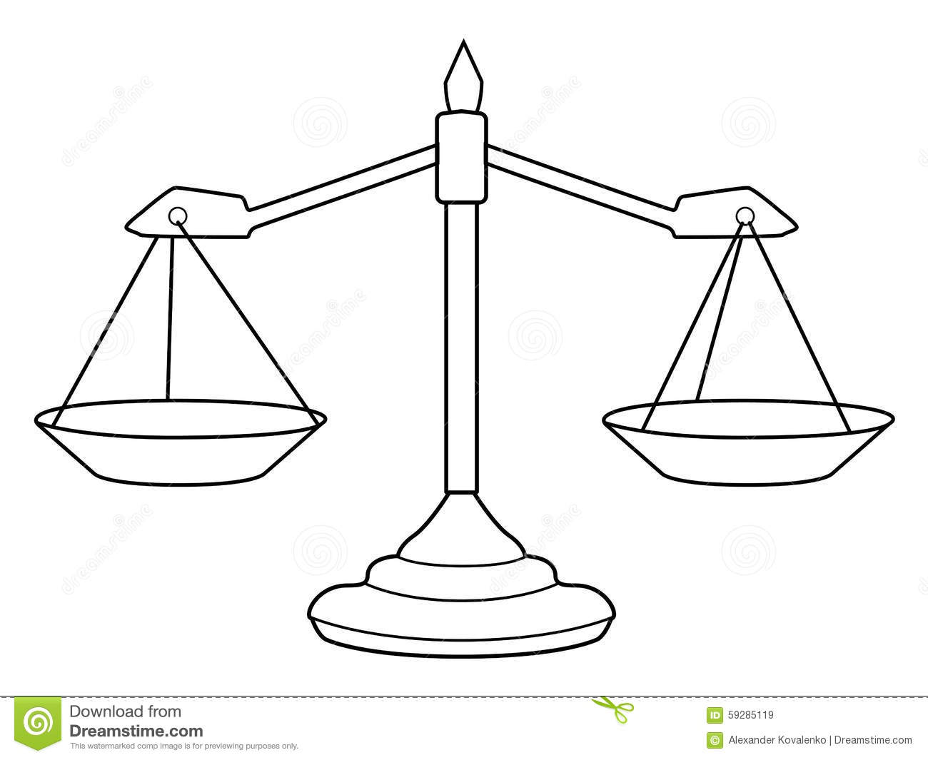 Scales Of Justice Stock Illustration