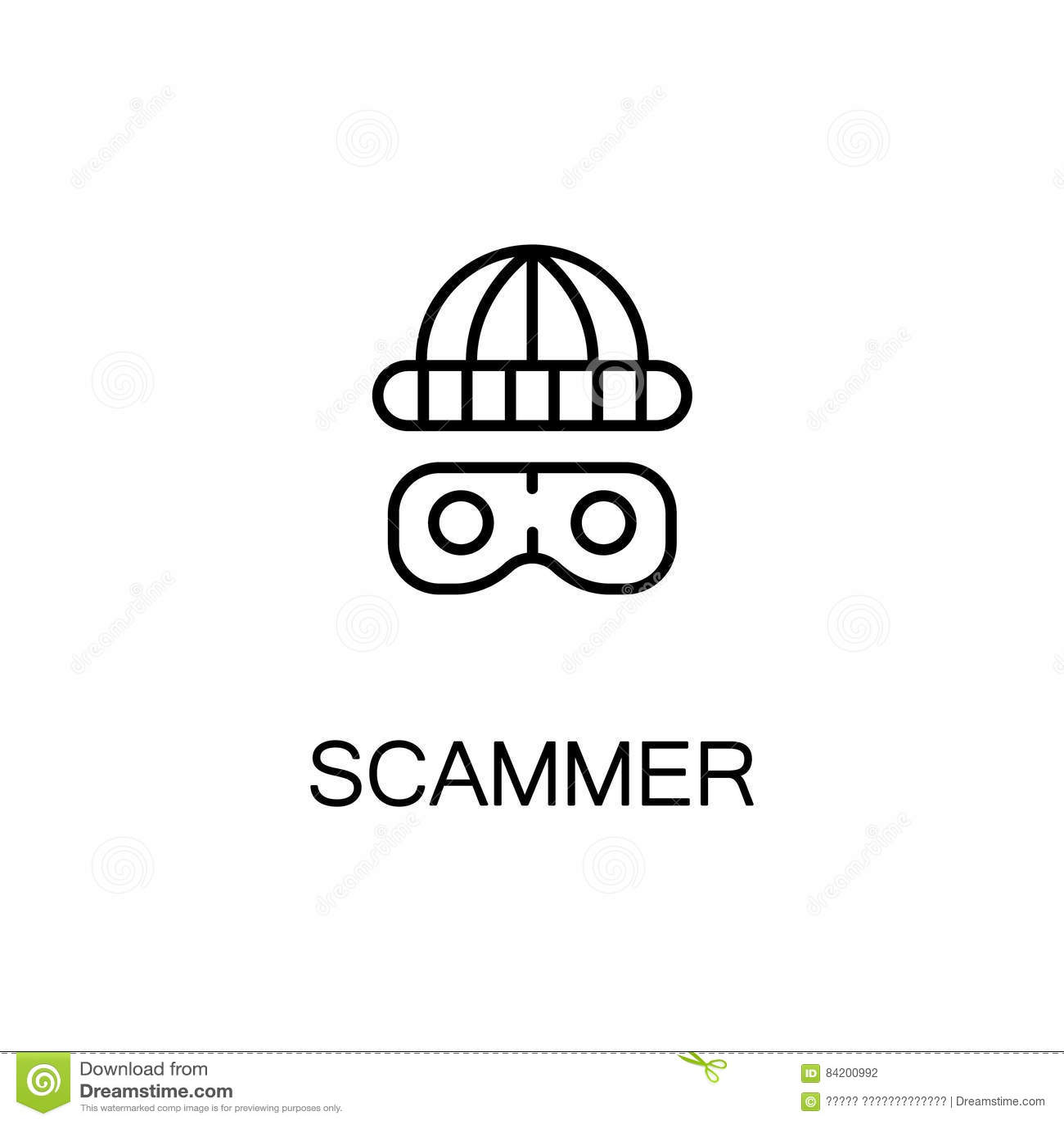 Burglar Hacking Mobile Data Vector Illustration