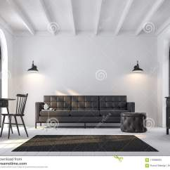 Scandinavian Living Room Furniture Better Homes And Gardens Pictures 3d Render Furnished With Black